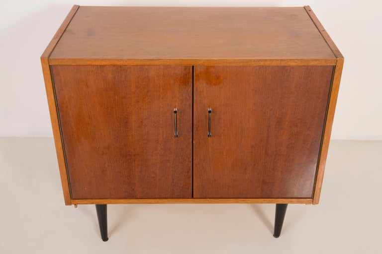 Set of Three Mid-Century Modern Vintage Sideboards, Wood, Poland, 1960s For Sale 10