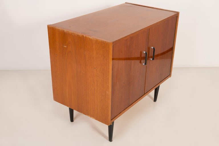 Set of Three Mid-Century Modern Vintage Sideboards, Wood, Poland, 1960s For Sale 11