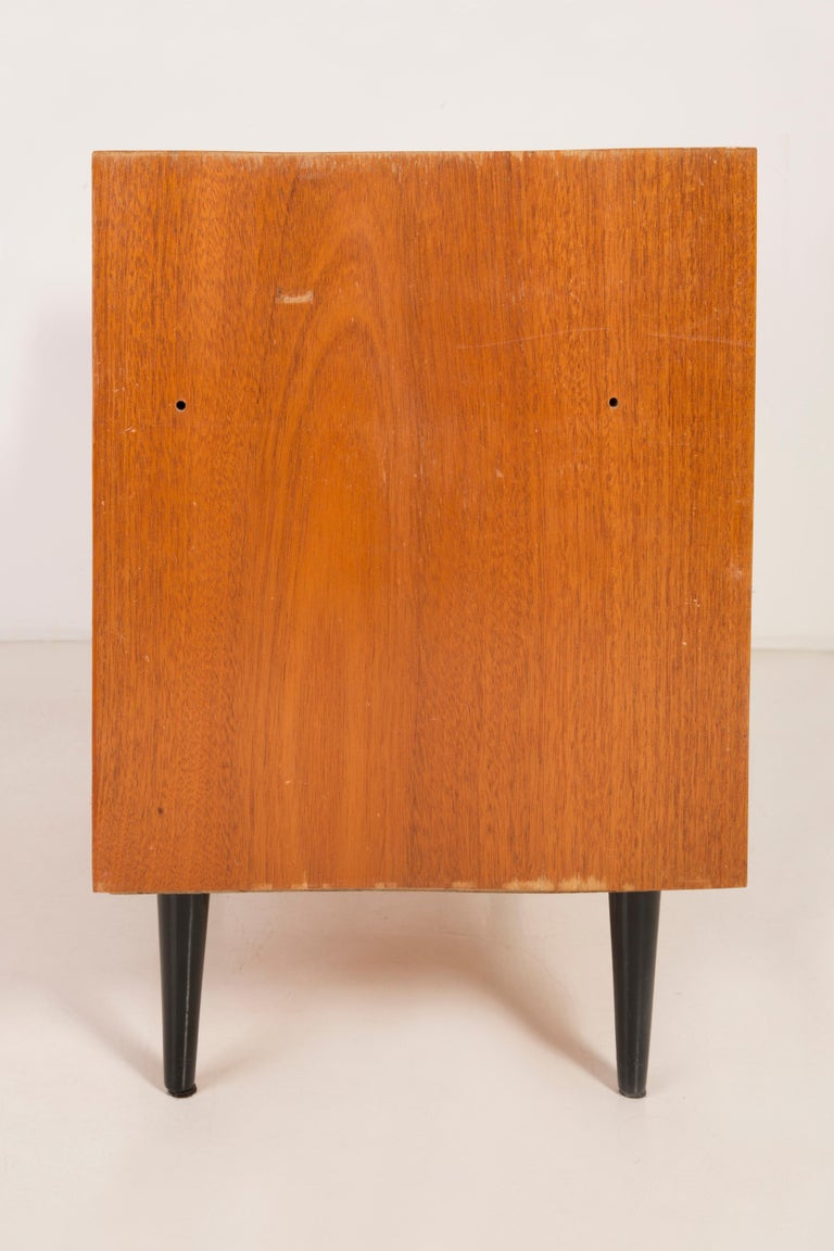 Set of Three Mid-Century Modern Vintage Sideboards, Wood, Poland, 1960s For Sale 12