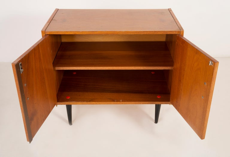 Set of Three Mid-Century Modern Vintage Sideboards, Wood, Poland, 1960s For Sale 14