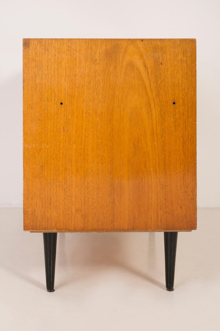20th Century Set of Three Mid-Century Modern Vintage Sideboards, Wood, Poland, 1960s For Sale