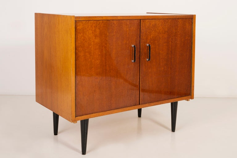Set of Three Mid-Century Modern Vintage Sideboards, Wood, Poland, 1960s For Sale 2
