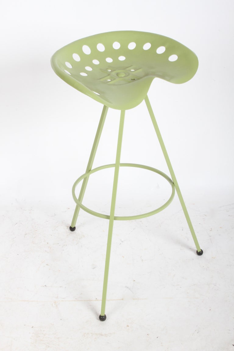 Set of Three Midcentury Tractor Seat Bar Stools, Restored  For Sale 5