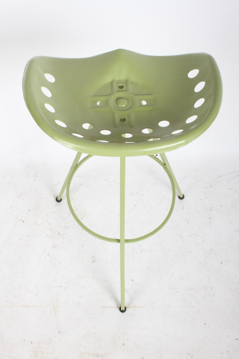 Set of Three Midcentury Tractor Seat Bar Stools, Restored  For Sale 6