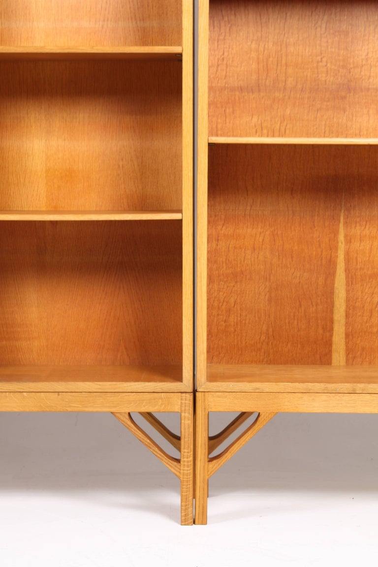 Danish Set of Three Midcentury Bookcases in Oak by Børge Mogensen, Made in Denmark For Sale
