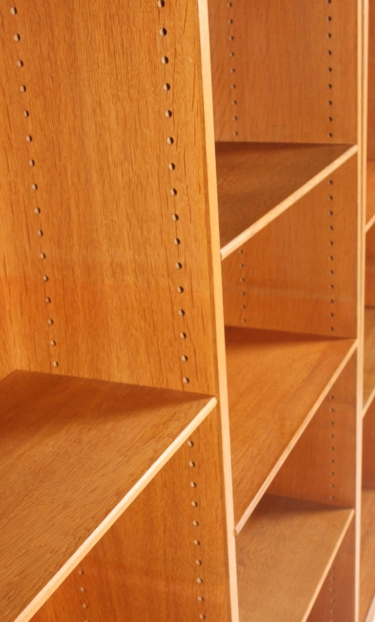 Mid-20th Century Set of Three Midcentury Bookcases in Oak by Børge Mogensen, Made in Denmark For Sale