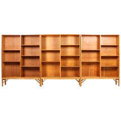 Set of Three Midcentury Bookcases in Oak by Børge Mogensen, Made in Denmark