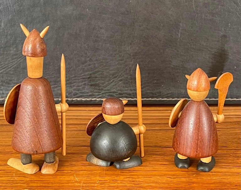 Set of Three Midcentury Danish Vikings Figures by Jacob Jensen In Good Condition For Sale In San Diego, CA