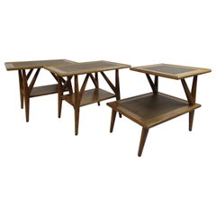 Set of Three Midcentury Jack Van der Molen Side Tables