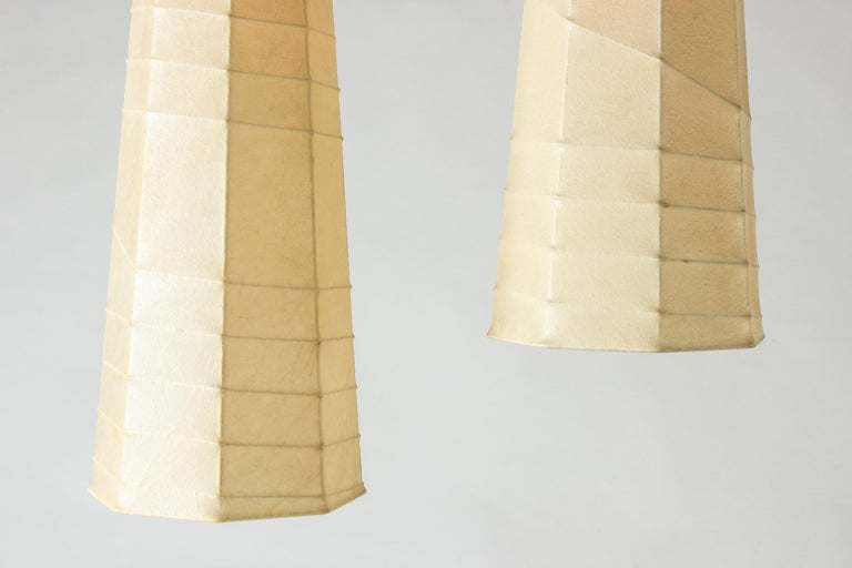 Swedish Set of Three Midcentury Metal and Resin Ceiling Lights by Hans Bergström For Sale