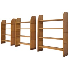 Set of Three 'Milani' Solid Pine Bookshelves, Swiss, 1947