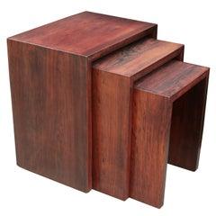 Set of Three Modernist Nesting Tables