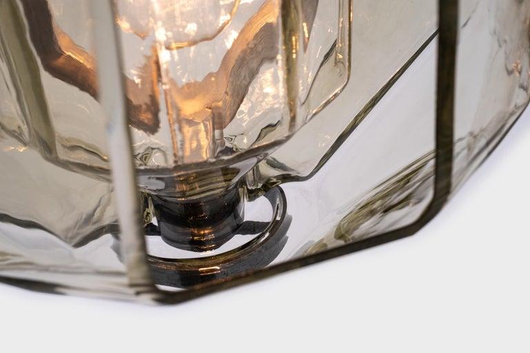 Mid-20th Century Set of three Murano Glass Pendants by Vinicio Vianello for Vistosi, Italy, 1957 For Sale