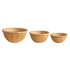 Set of Three Nantucket Lightship Baskets