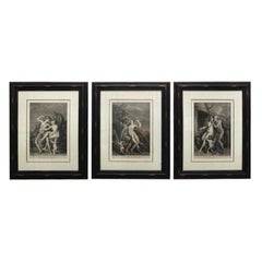 Set of Three Neoclassical Allegorical Engravings of Titian