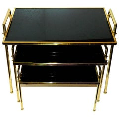 Set of Three Nesting Tables by Maison Jansen