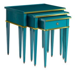 "Set of Three Nesting Tables ""Gigogne"""