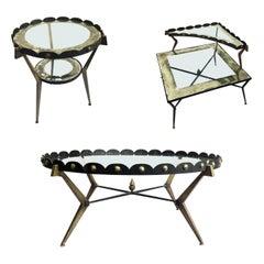 Set of Three Original Amazing Tables Designed by Arturo Pani