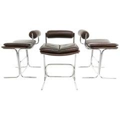 Set of Three Pieff Eleganza Chairs by Tim Bates Mid Century 1960s
