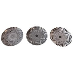 "Set of Three Piero Fornasetti ""Egocentrismo"" Ceramic Plates, 1960s, Italy"