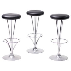 Set of Three Piet Hein Bar Stools for Fritz Hansen