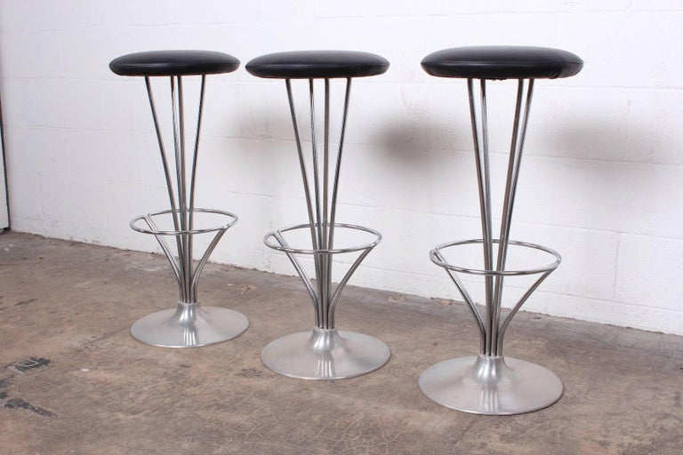 Mid-20th Century Set of Three Piet Hein Barstools