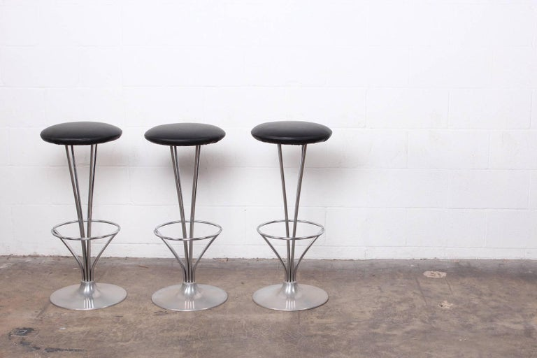 Set of Three Piet Hein Barstools 4