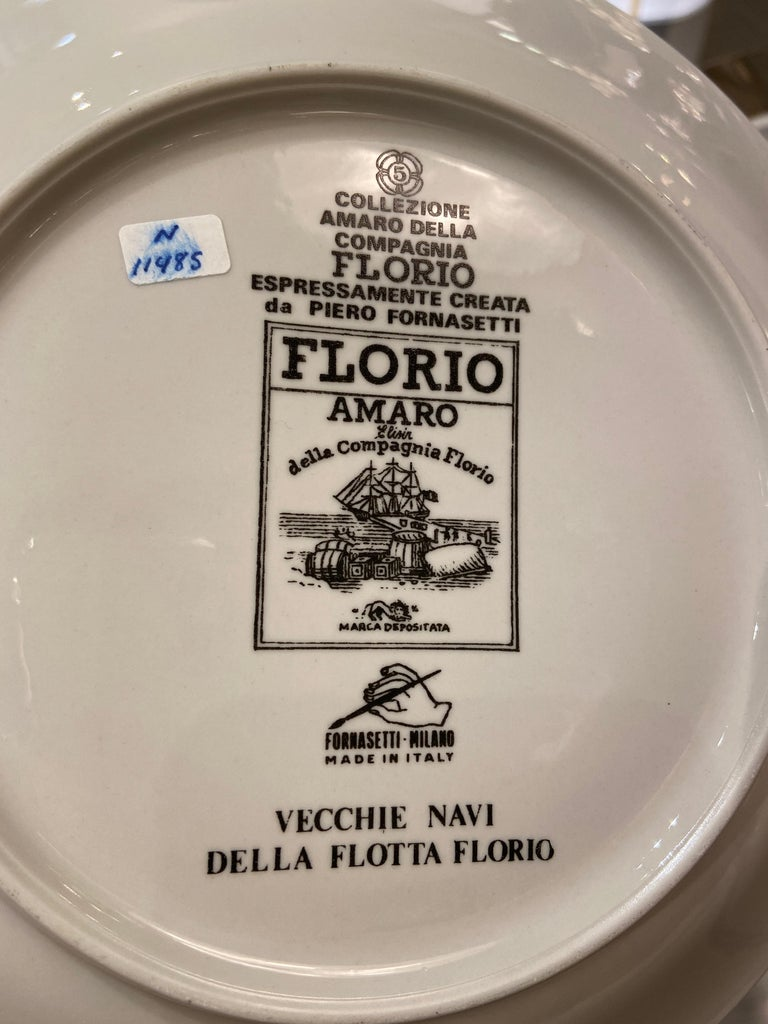 Late 20th Century Set of Three Plates by Piero Fornasetti, Italy, 1980s For Sale