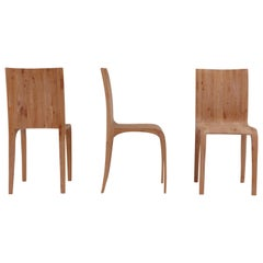 Set of Three Prototype Chairs in Solid Alder by Jonathan Field