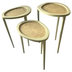 1  R & Y Augousti Organic Shaped Shagreen Drink Table