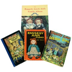 Set of Three Raggedy Ann Books with Raggedy Ann Family Album
