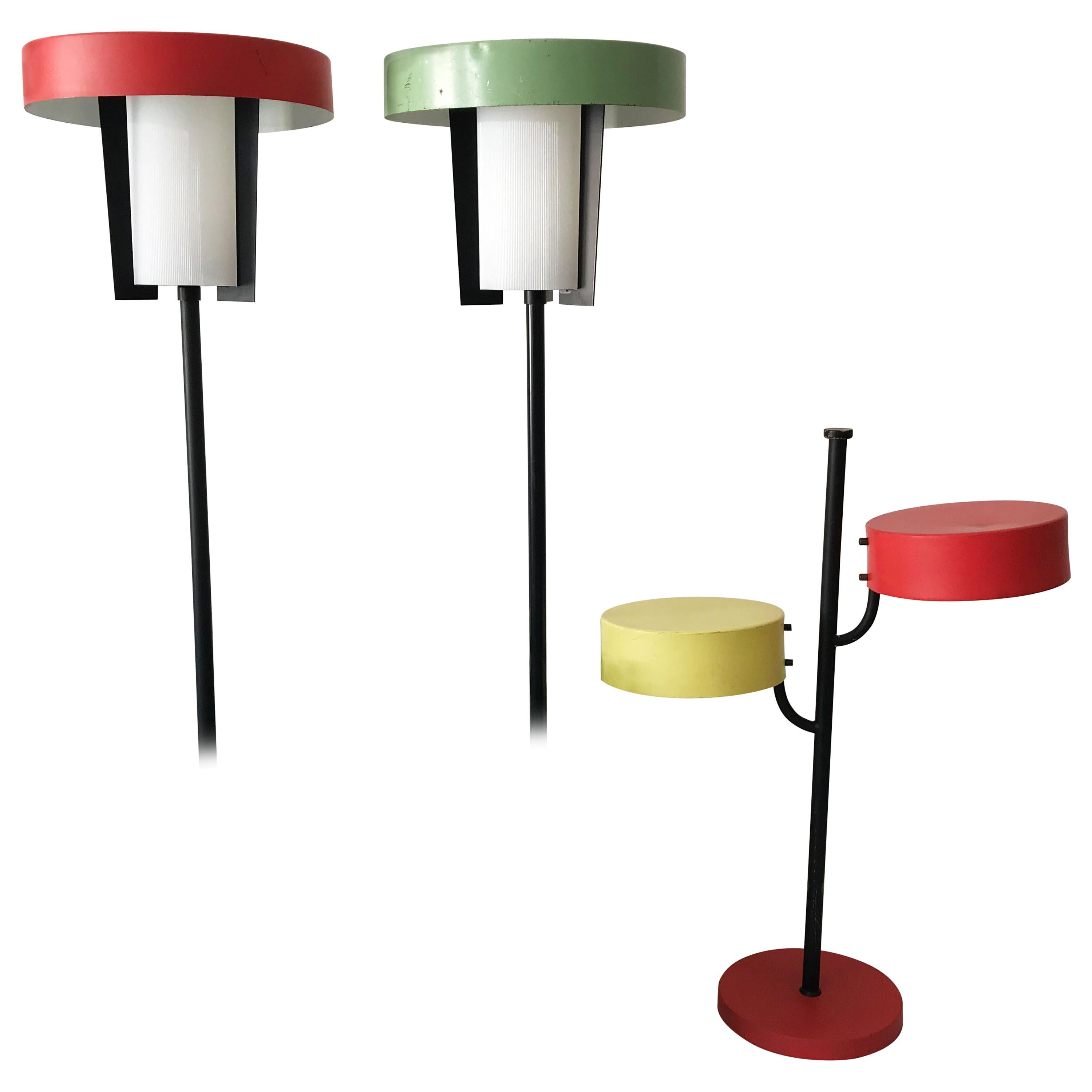 Set of Three Rare Outdoor or Garden Lamps by Kaiser Leuchten Germany 1950s