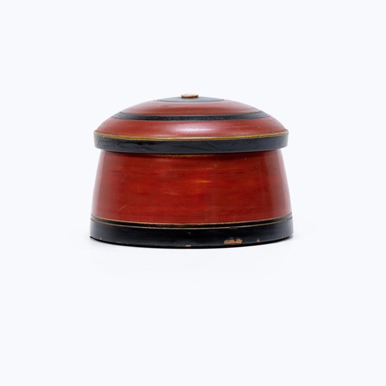 In many southeast Asian cultures, offering guests a betel quid to chew was the fundamental symbol of hospitality. A blend of leaves, nuts, seasonings, and sometimes tobacco, betel was kept in finely worked and decorated boxes. These round betel