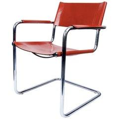 Set of Three Rust Italian MG Chairs Matteo Grassi