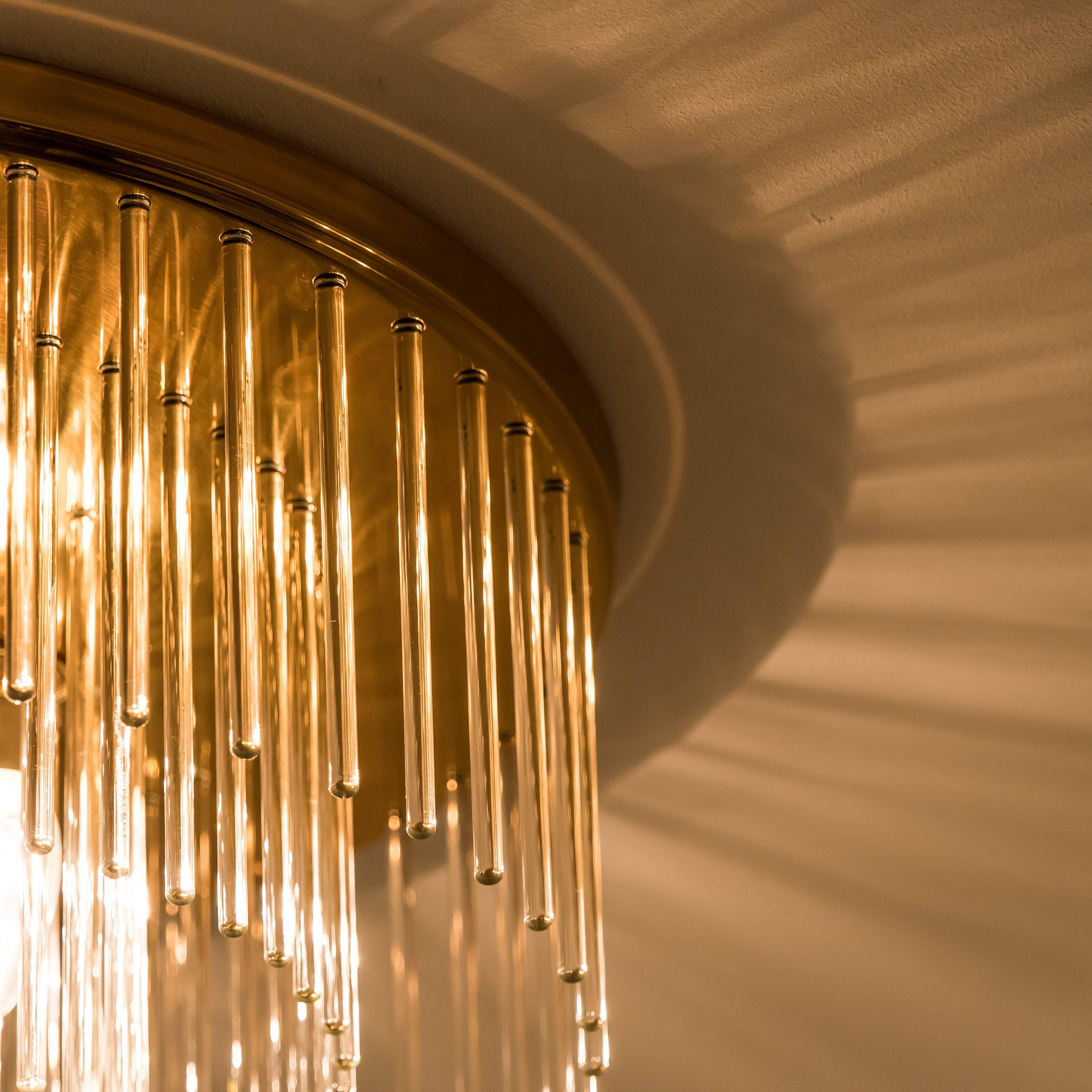 10 1//3 Hillebrand  Wandlampe Wall  SCONCE  wall lamp Glas Orange  Murano