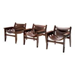 Set of Three Sergio Rodrigues 'Kilin' Lounge Chairs, Brasil, 1970s
