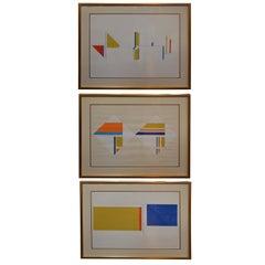 Set of Three Serigraphs by Ilya Bolotowsky