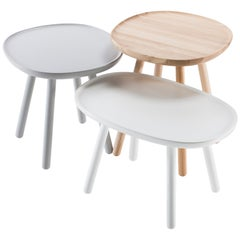 Set of Three Side Tables in Solid Ash