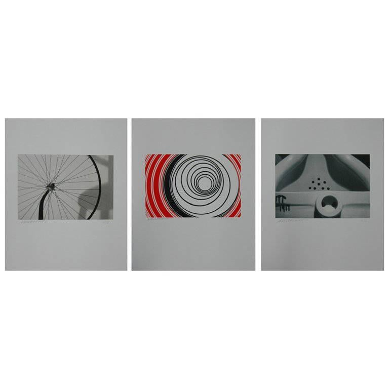 Set of Three Signed Sturtevant Serigraphs For Sale