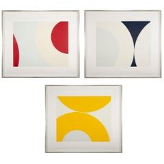 Set of Three Silkscreens by Nassos Daphnis