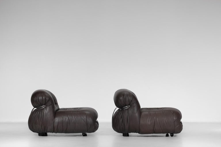 Late 20th Century Set of Three Soriana Armchairs by Tobia Scarpa Published by Cassina For Sale