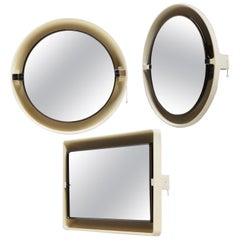 Set of Three Space Age Mirrors by Allibert