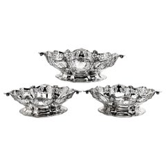 Set of Three Sterling Silver Baskets / Dishes, 1921-1922