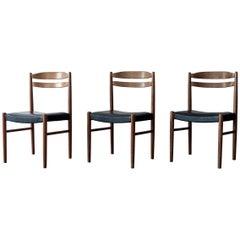 Set of Three Swedish Chairs by Carl Ekström for Albin Johansson & Söner, 1950s