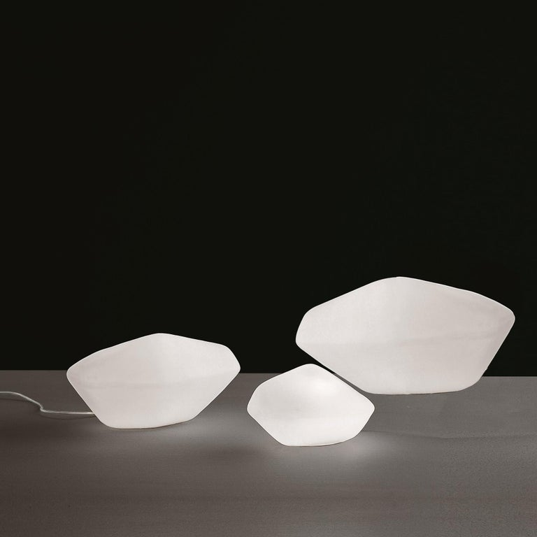 Set of three table lamps 'Stone of Glass' designed by Marta Laudani & Marco Romanelli in 2001. Two small models and one large model.