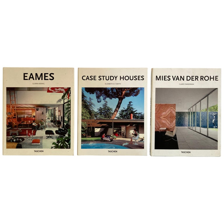 Set of Three Taschen Hardcover Books Eames, Case Study, Mies van der Rohe