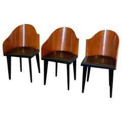 Set of Three Toscana Chairs Designed by Piero Sartogo for Saporiti