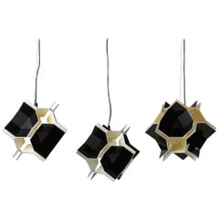 Set of Three T&T Ceiling Lamps Designed by Christophe de Ryck for Dark