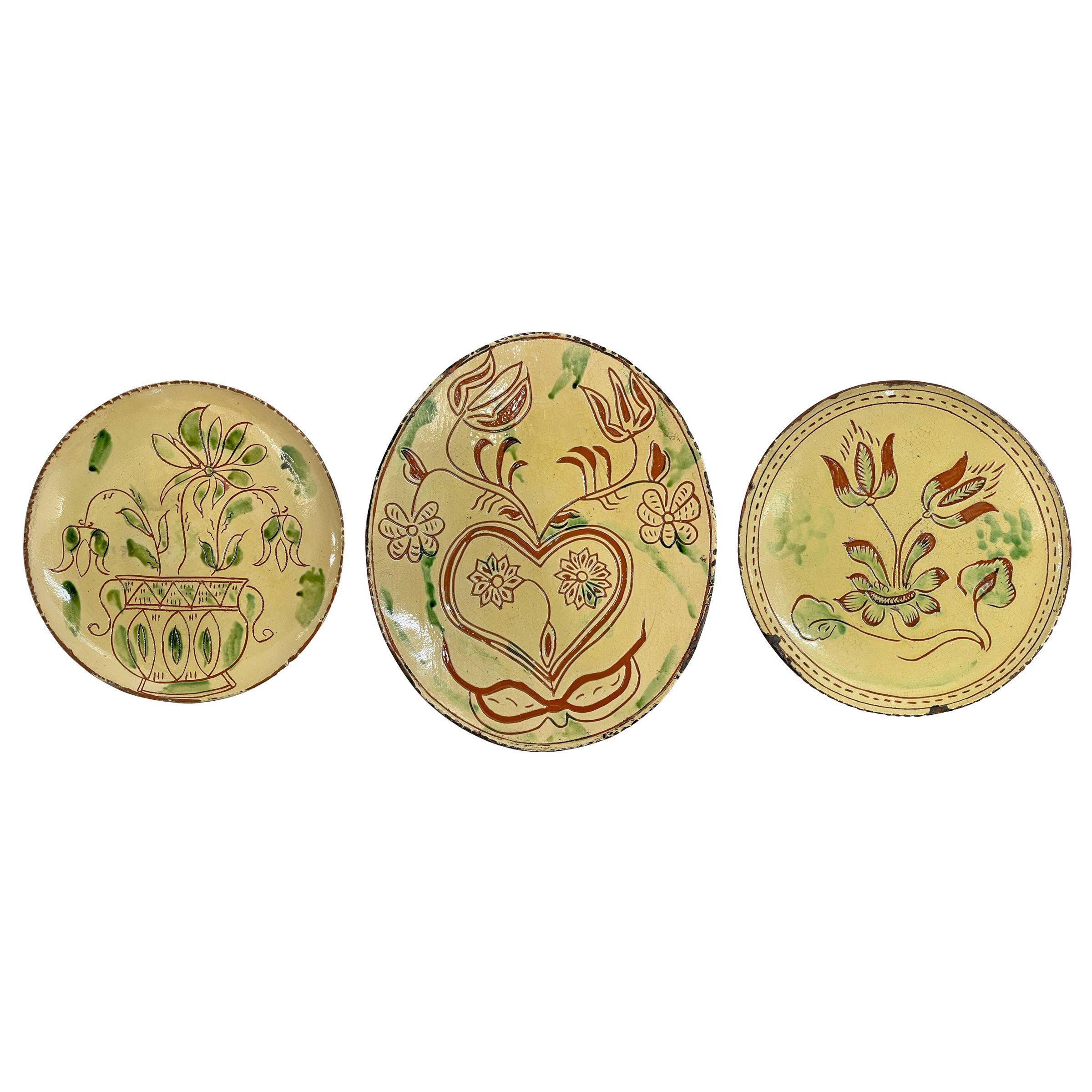 Set of Three Turtlecreek Potters Plates
