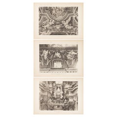 Set of Three Unframed Architectural Prints, Italy, Early 1900s